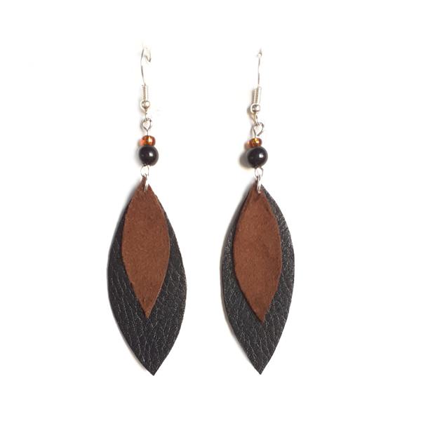 Lehtikorvakorut <br> musta/ruskea